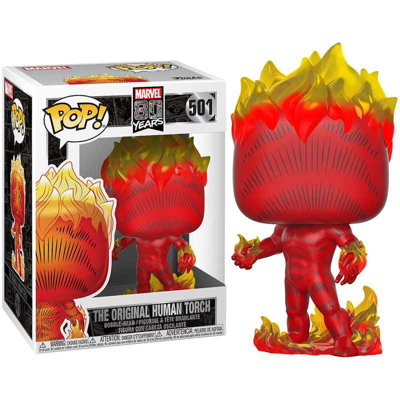 Photo du produit MARVEL 80TH POP! HEROES HUMAN TORCH (FIRST APPEARANCE)