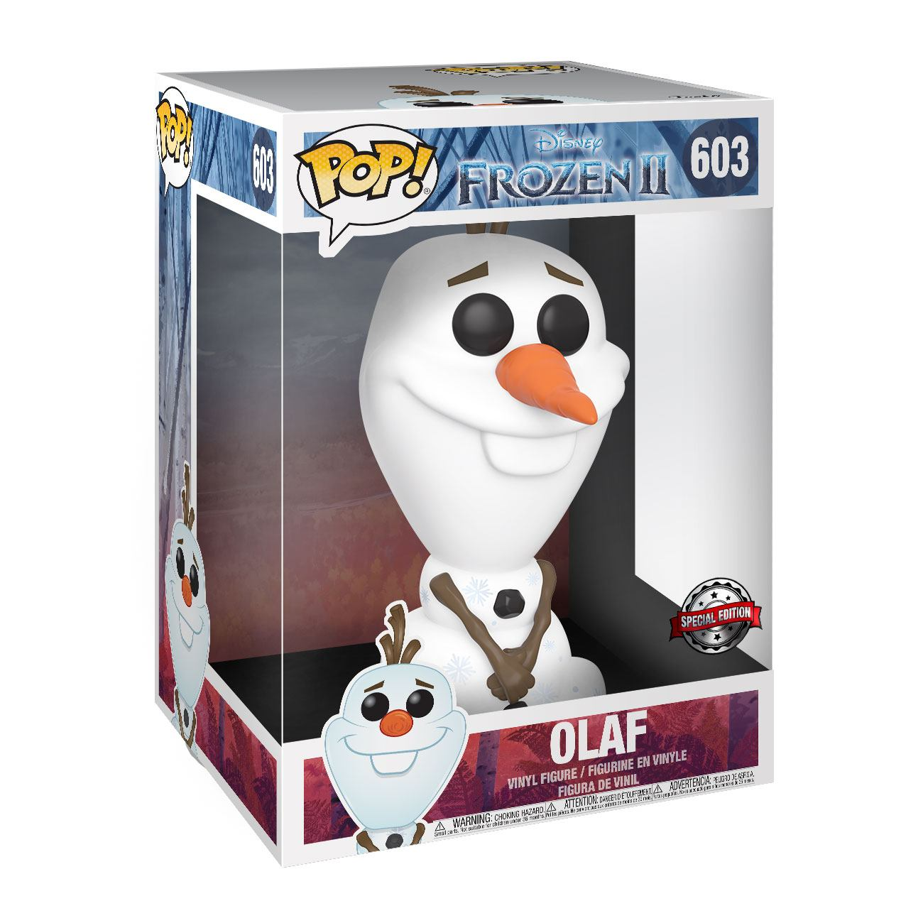 Photo du produit LA REINE DES NEIGES 2 SUPER SIZED POP! FIGURINE OLAF 25 CM