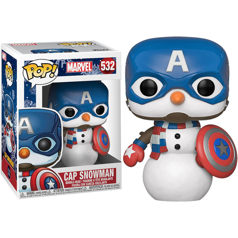Photo du produit MARVEL HOLIDAY FIGURINE POP! MARVEL VINYL CAPTAIN AMERICA