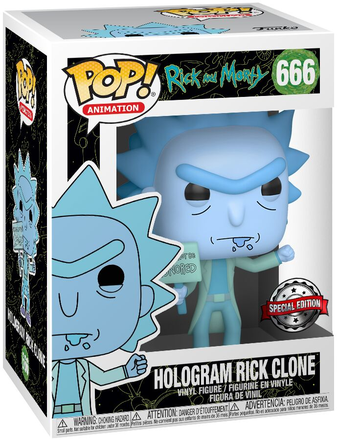 Photo du produit RICK ET MORTY FIGURINE POP! ANIMATION VINYL HOLOGRAM RICK CLONE
