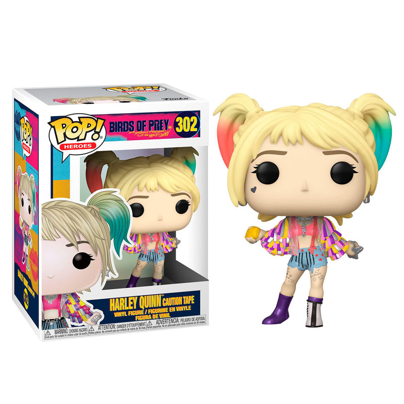 Photo du produit FUNKO POP DC BIRDS OF PREY HARLEY QUINN CAUTION TAPE