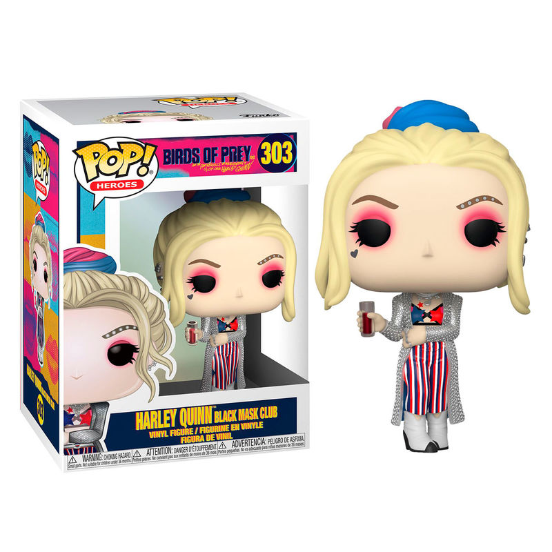 Photo du produit FUNKO POP DC BIRDS OF PREY HARLEY QUINN BLACK MASK CLUB
