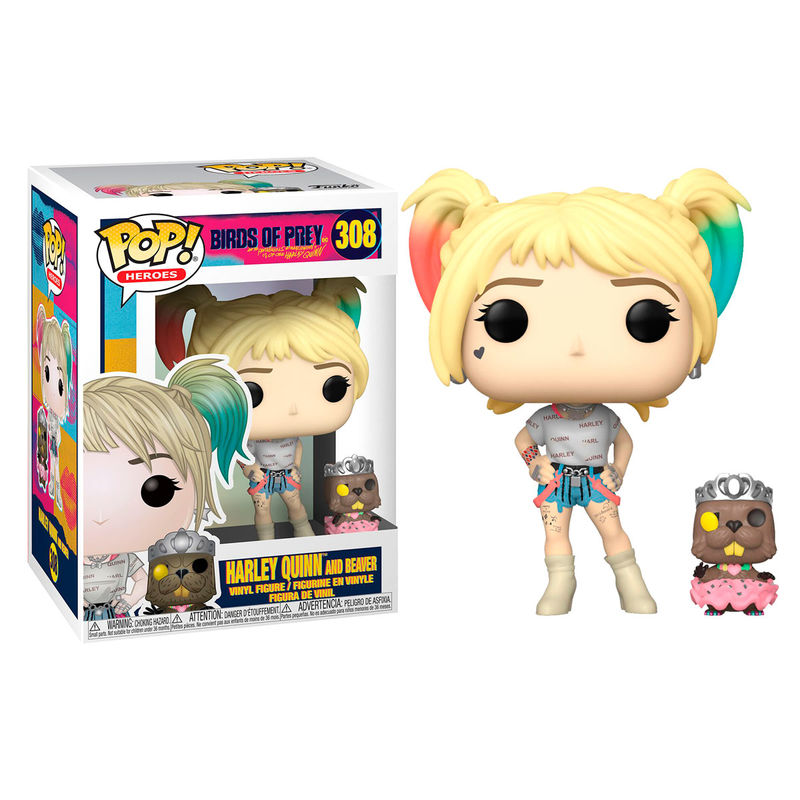 Photo du produit FUNKO POP DC BIRDS OF PREY HARLEY QUINN WITH BEAVER