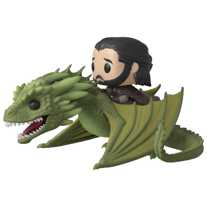 Photo du produit GAME OF THRONES POP! RIDES VINYL FIGURINE JON SNOW & RHAEGAL