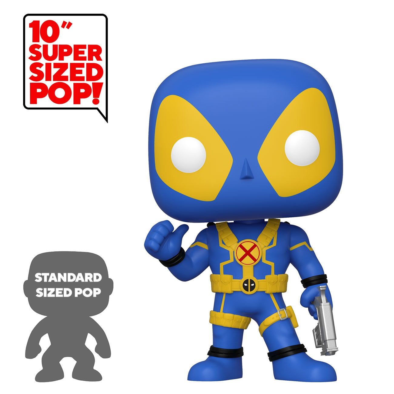 Photo du produit DEADPOOL SUPER SIZED POP! THUMB UP BLUE DEADPOOL 25 CM