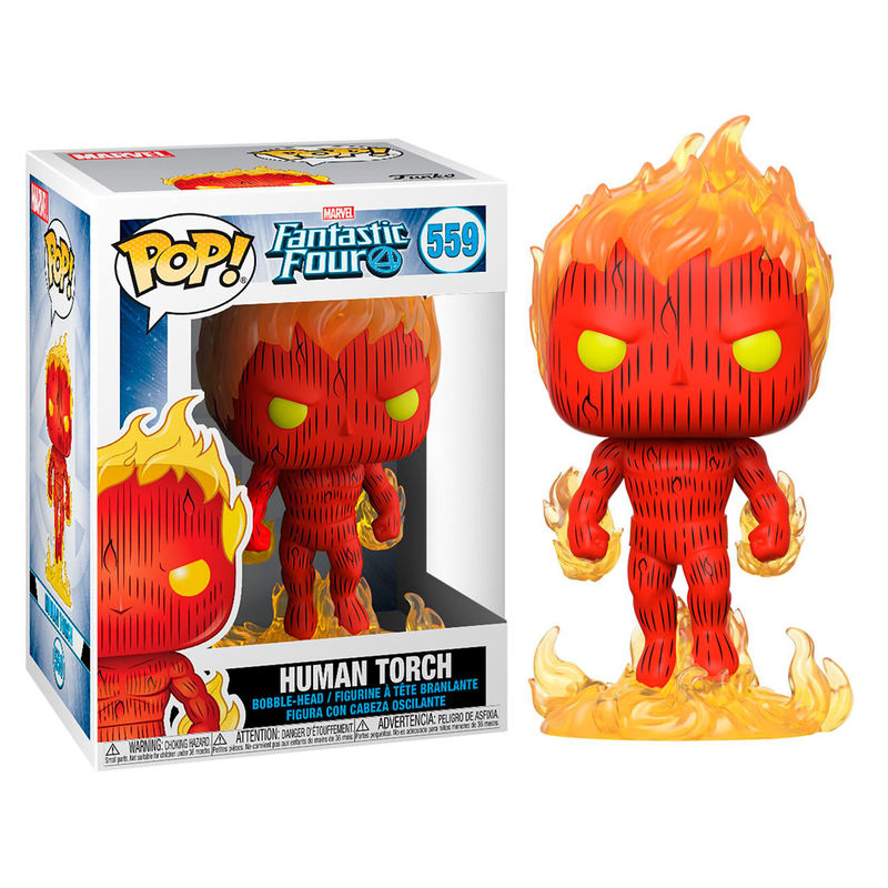 Photo du produit FUNKO POP MARVEL LES 4 FANTASTIQUES HUMAN TORCH