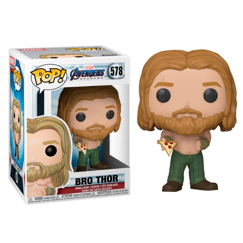 Photo du produit AVENGERS ENDGAME POP! MOVIES VINYL FIGURINE THOR WITH PIZZA
