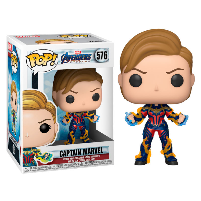 Photo du produit AVENGERS ENDGAME POP! MOVIES VINYL FIGURINE CAPTAIN MARVEL WITH NEW HAIR