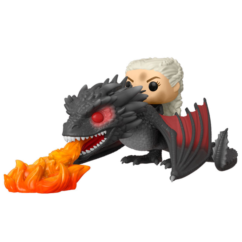 Photo du produit FUNKO POP RIDES GAME OF THRONES DAENERYS ON FIERY DROGON