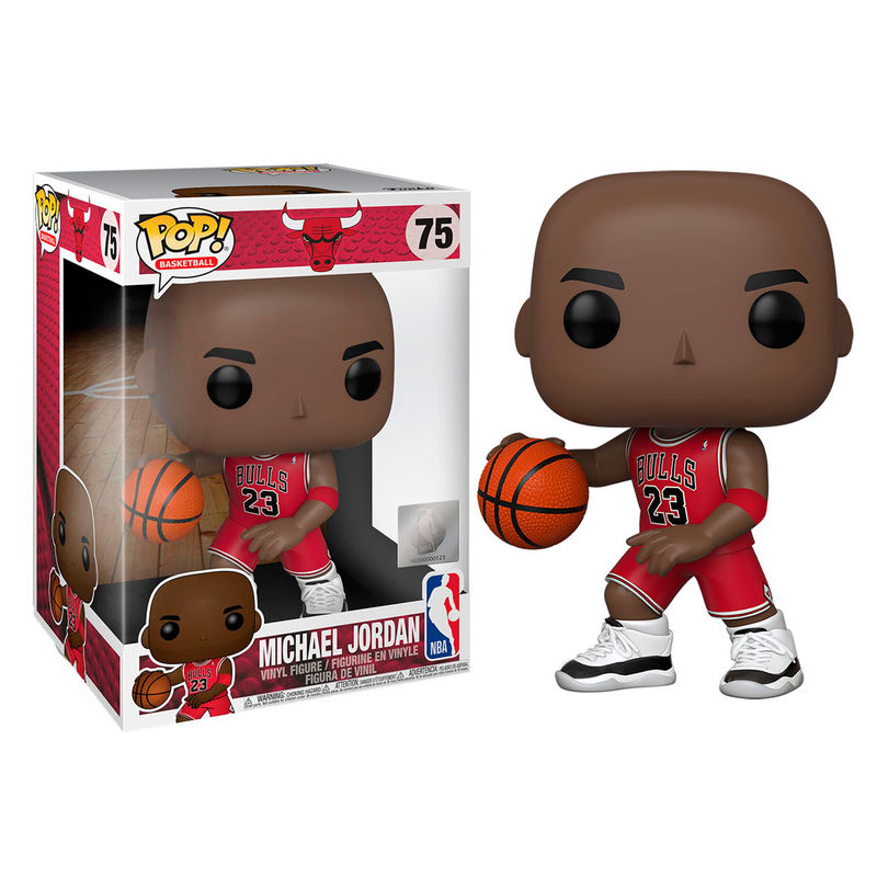 Photo du produit FIGURINE FUNKO POP NBA BULLS MICHAEL JORDAN RED JERSEY 25CM