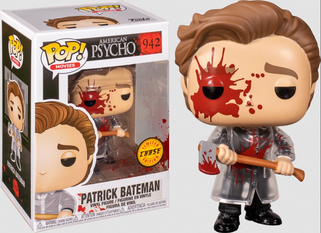 Photo du produit FUNKO POP AMERICAN PSYCHO PATRICK WITH AXE CHASE EXCLUSIVE