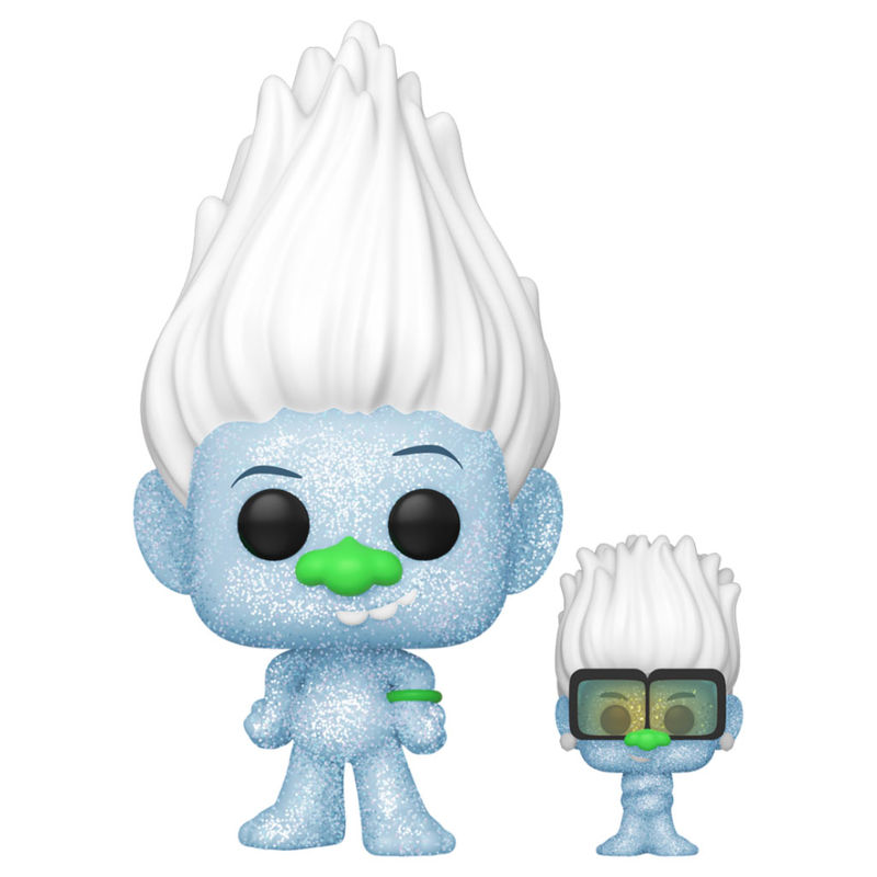 Photo du produit FUNKO POP! TROLLS WORLD TOUR KING HIP HOP GUY (DIAMOND GLITTER) WITH TINY