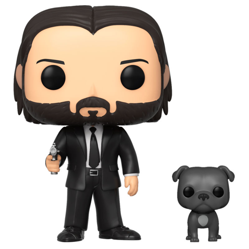 Photo du produit FUNKO POP JOHN WICK JOHN IN BLACK SUIT WITH DOG