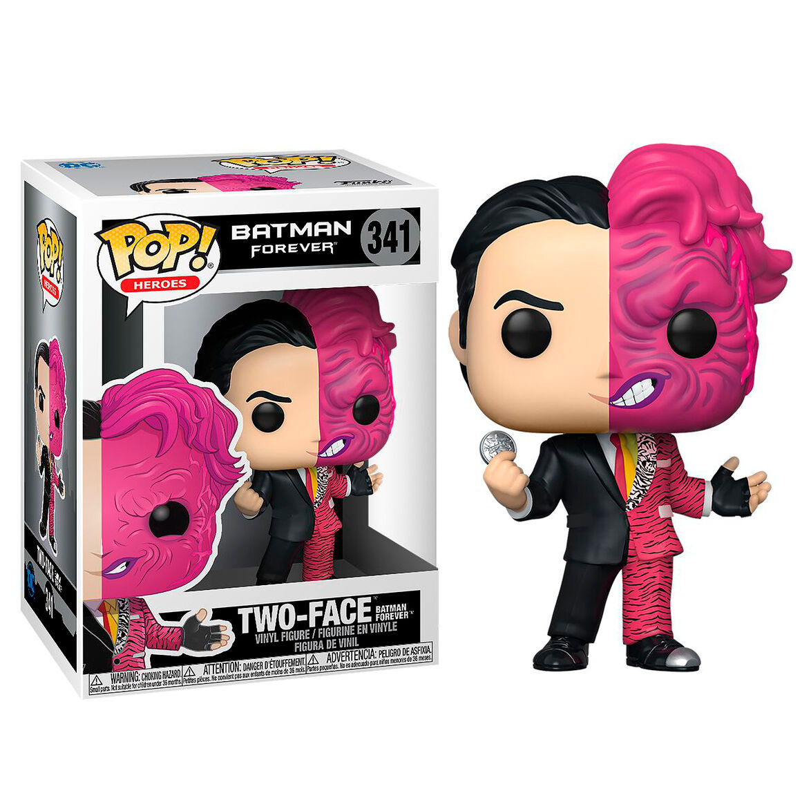 Photo du produit BATMAN FOREVER POP! HEROES VINYL FIGURINE TWO FACE