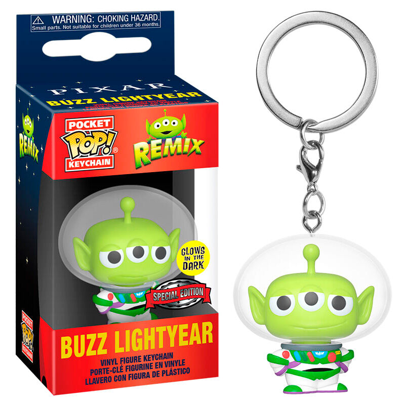 Photo du produit PORTE CLÉ POCKET POP DISNEY PIXAR ALIEN REMIX BUZZ GLOW EXCLUSIVE