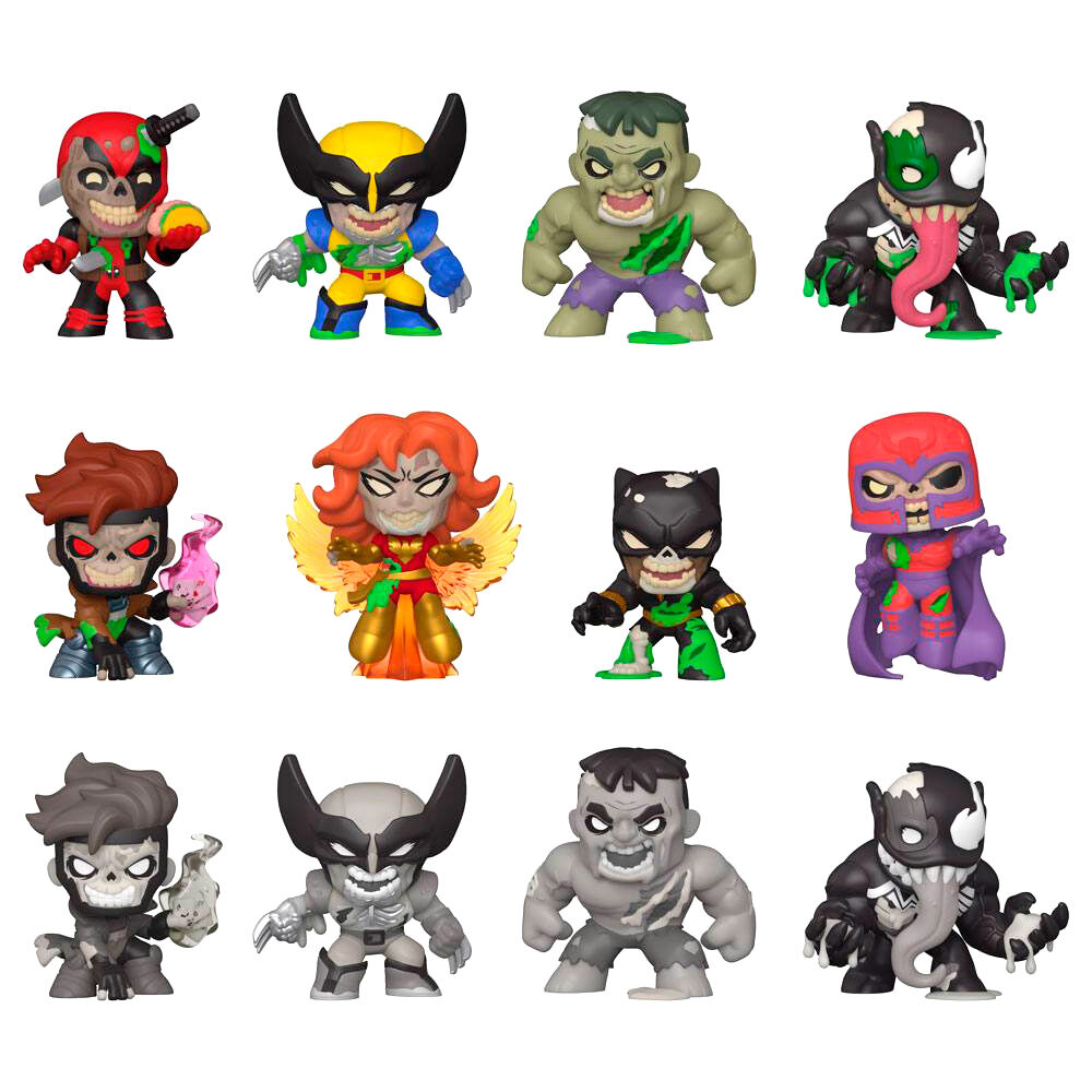Photo du produit 12 FIGURINES MYSTERY MINIS MARVEL ZOMBIES + PRÉSENTOIR