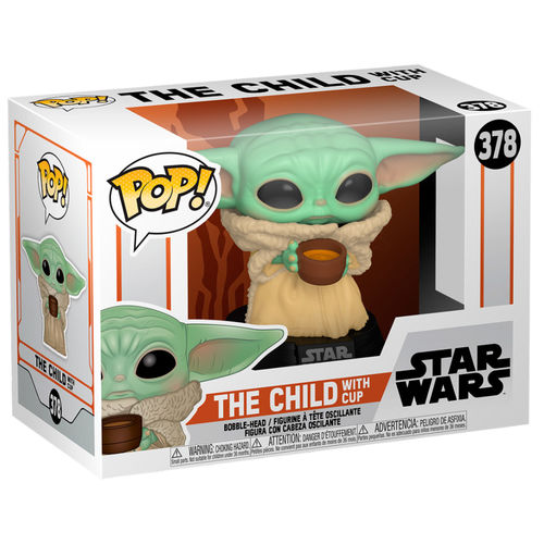 Photo du produit FIGURINE THE MANDALORIAN FUNKO POP! STAR WARS THE CHILD WITH CUP