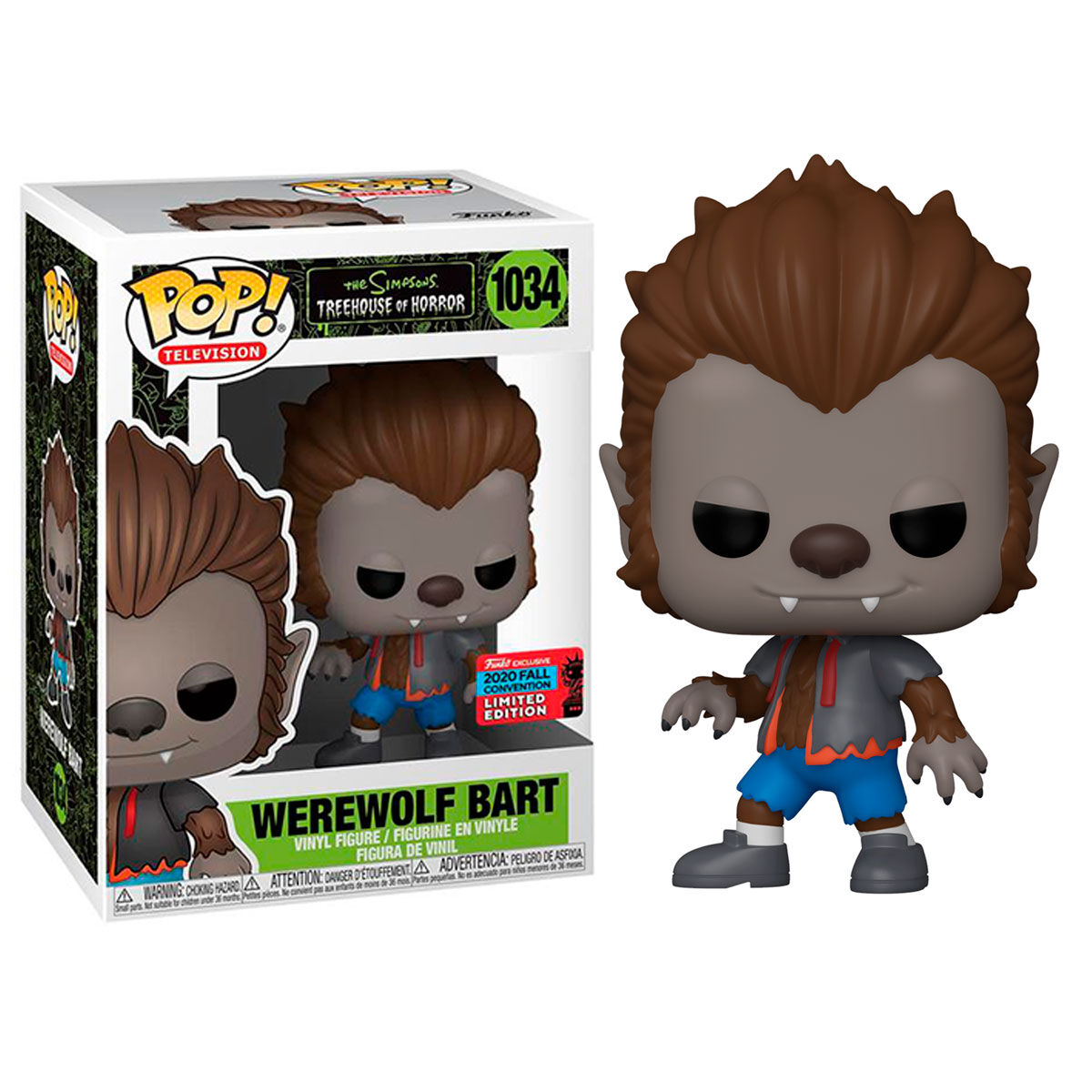 Photo du produit FUNKO POP THE SIMPSONS WEREWOLF BART EXCLUSIVE NYCC 2020