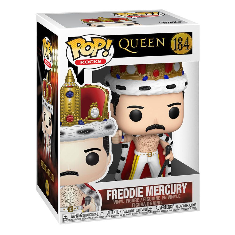 Photo du produit FUNKO POP ROCKS QUEEN FREDDIE MERCURY KING 9 CM