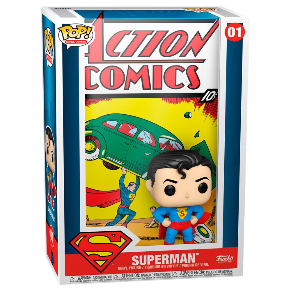 Photo du produit DC COMICS POP! COMIC COVER VINYL FIGURINE SUPERMAN ACTION COMIC