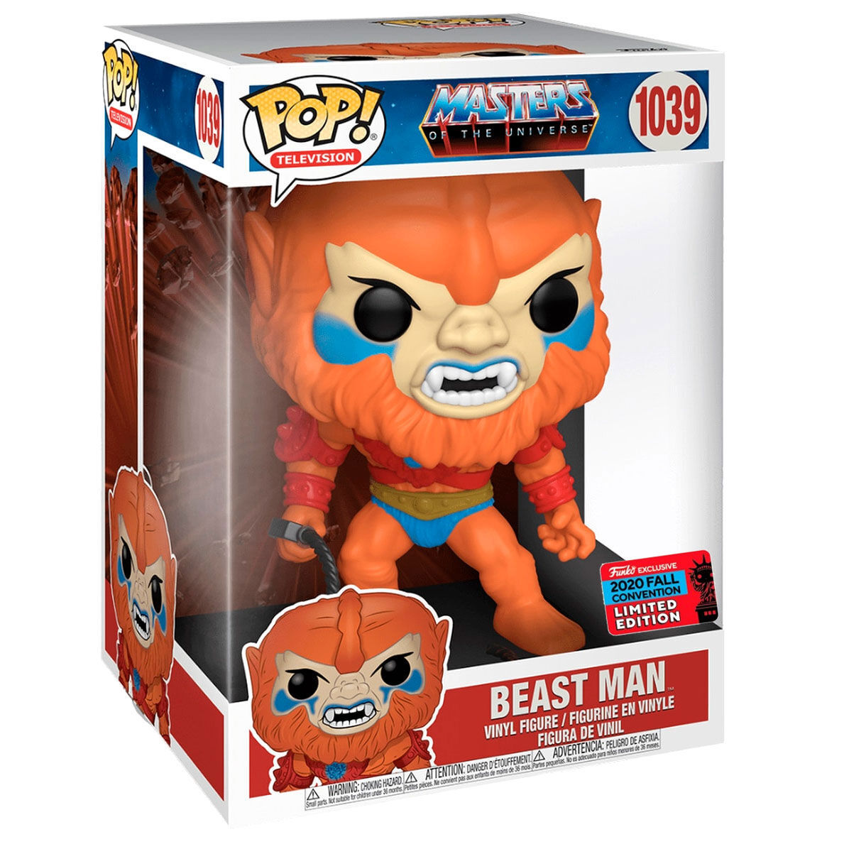 Photo du produit FUNKO POP MASTERS OF THE UNIVERSE BEAST MAN 25 CM EXCLUSIVE NYCC FALL CONVENTION 2020