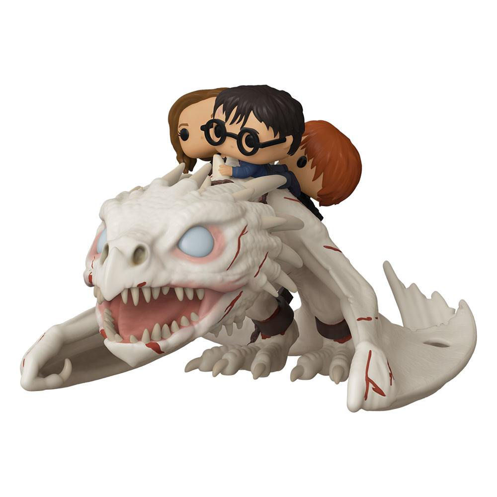Photo du produit HARRY POTTER POP! RIDES DRAGON WITH HARRY, RON & HERMIONE 15 CM