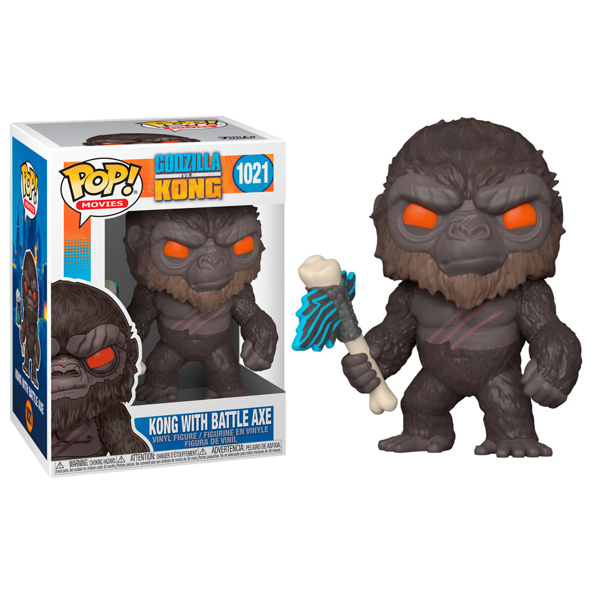Photo du produit GODZILLA VS KONG FIGURINE POP! MOVIES VINYL KING KONG WITH AXE 9 CM