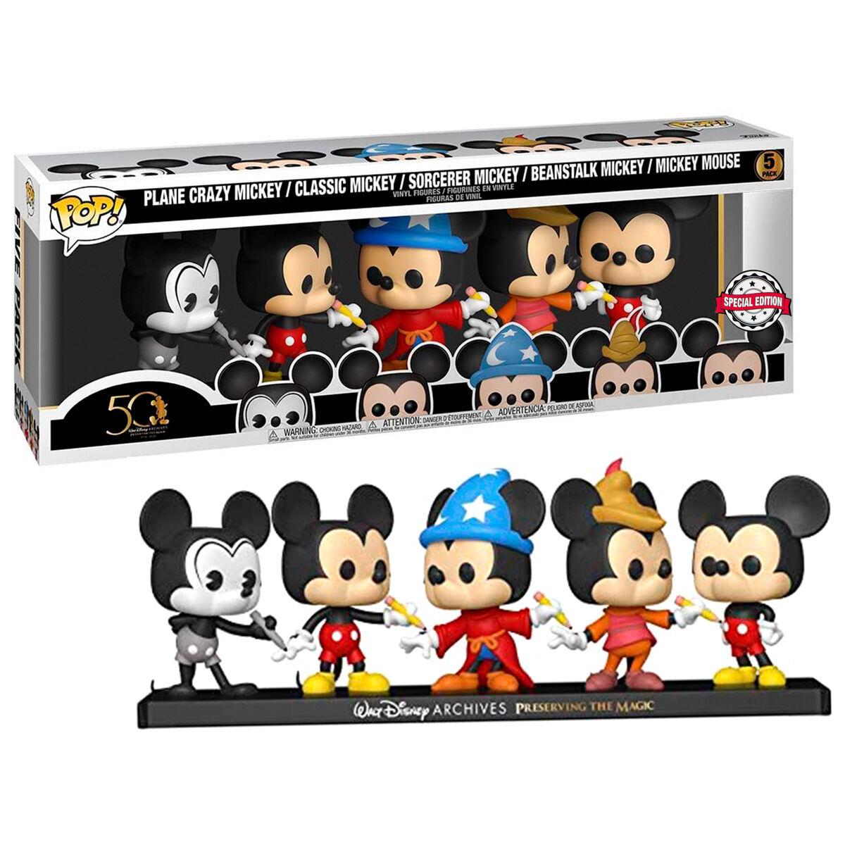 Photo du produit Pack 5 figurines Funko POP Disney Archives Mickey Exclusive