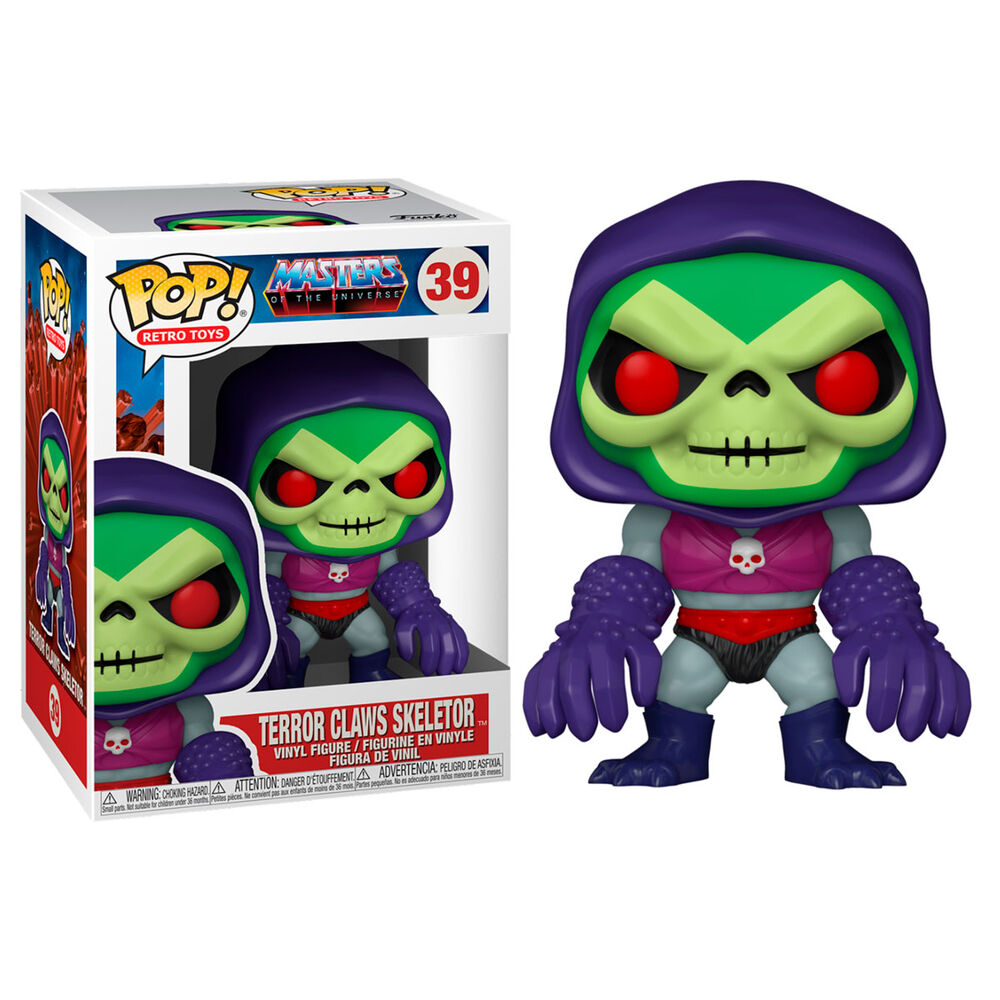 Photo du produit MASTERS OF THE UNIVERSE FUNKO POP! FIGURINE SKELETOR WITH TERROR CLAWS