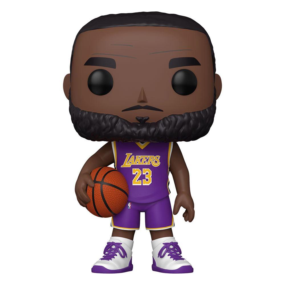 Photo du produit NBA SUPER SIZED POP! VINYL FIGURINE LEBRON JAMES (PURPLE JERSEY) 25 CM