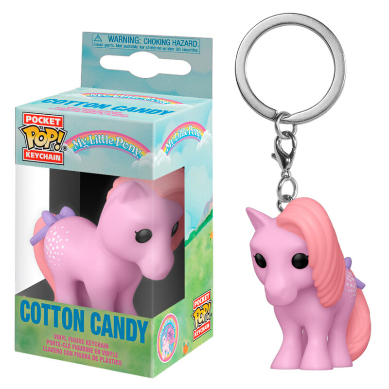 Photo du produit PORTE-CLÉ FUNKO POCKET POP MY LITTLE PONY COTTON CANDY