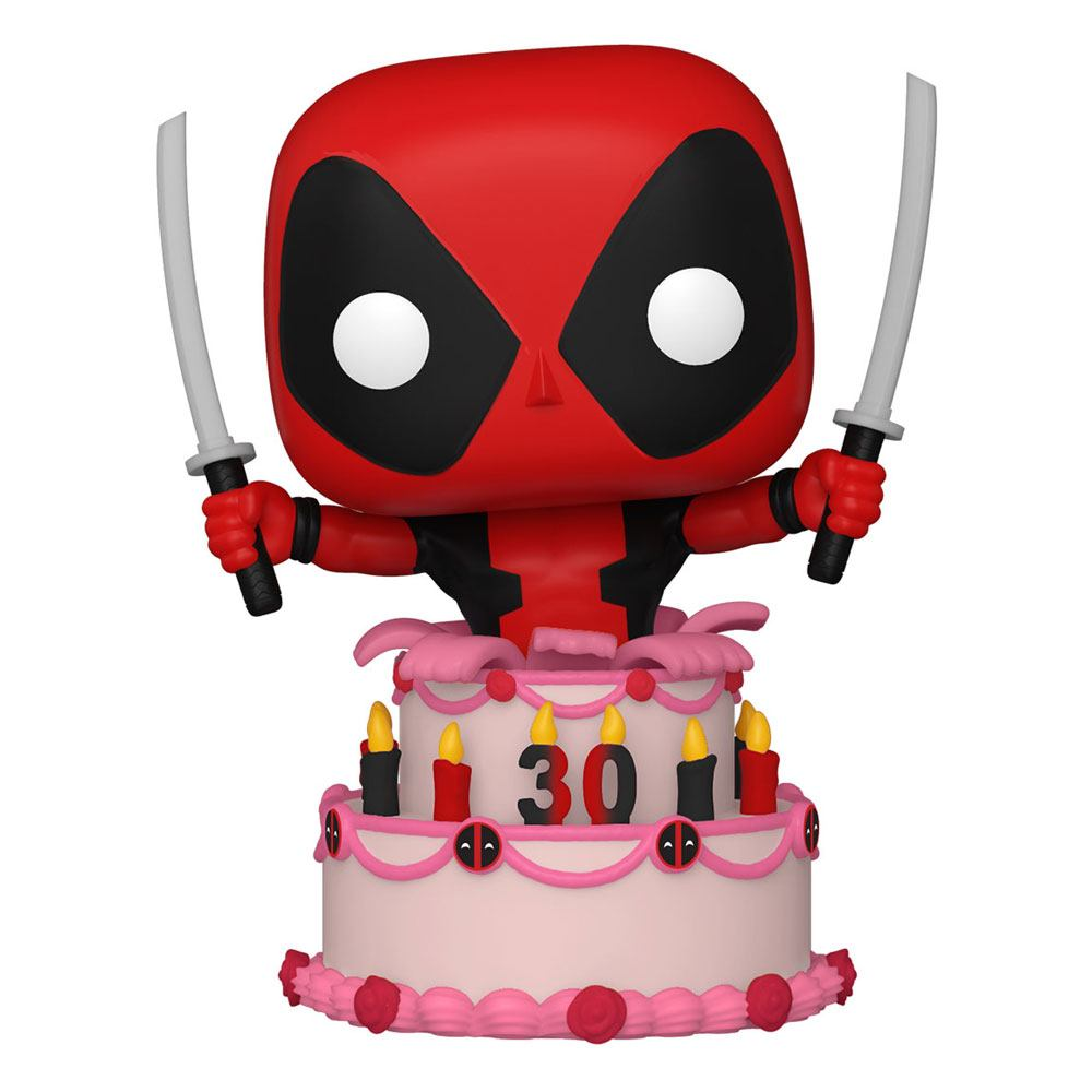 Photo du produit Marvel Deadpool 30th Anniversary Figurine POP! Vinyl Deadpool in Cake
