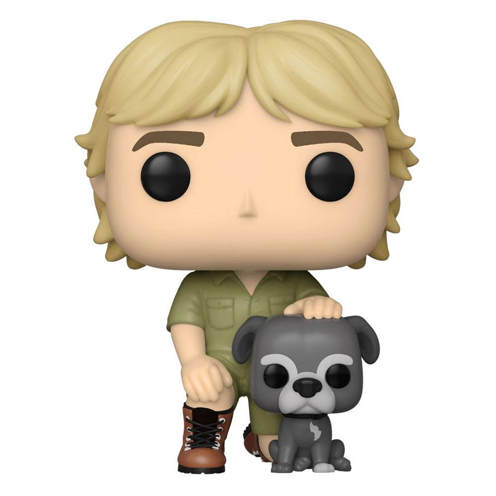 Photo du produit THE CROCODILE HUNTER POP! TV VINYL FIGURINE STEVE IRWIN W/SUI 9 CM