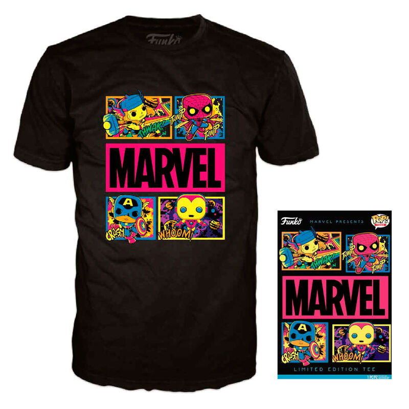 Photo du produit T-SHIRT FUNKO MARVEL BLACK LIGHT EDITION LIMITÉE