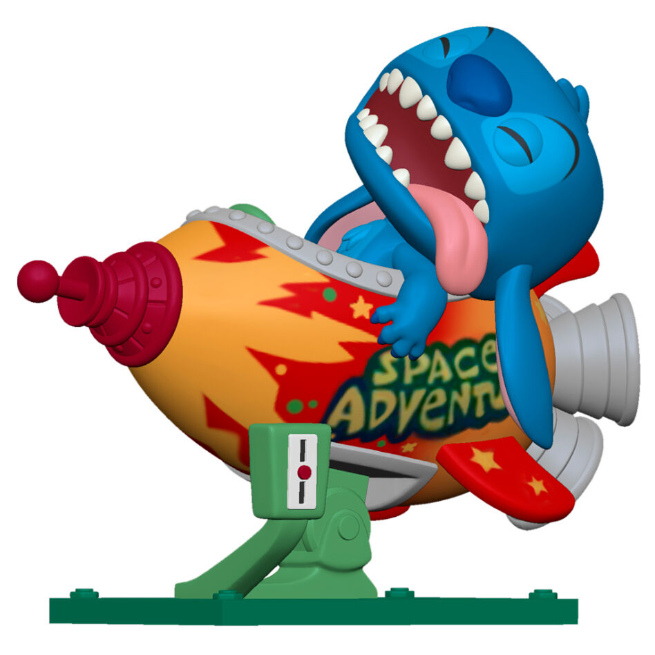 Photo du produit LILO & STITCH POP! RIDES VINYL FIGURINE STITCH IN ROCKET 15 CM
