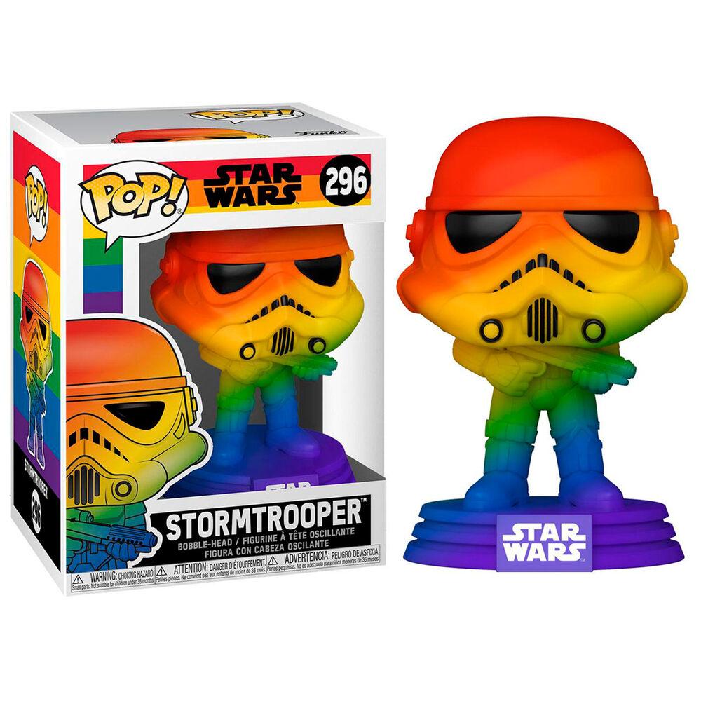 Photo du produit Star Wars POP! Pride Vinyl figurine Stormtrooper (RNBW) 9 cm