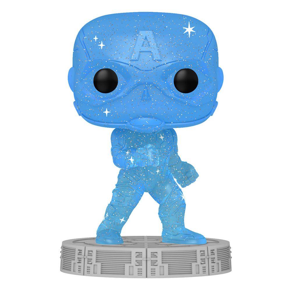 Photo du produit Infinity Saga Figurine POP! Artist Series Vinyl Captain America (Blue)