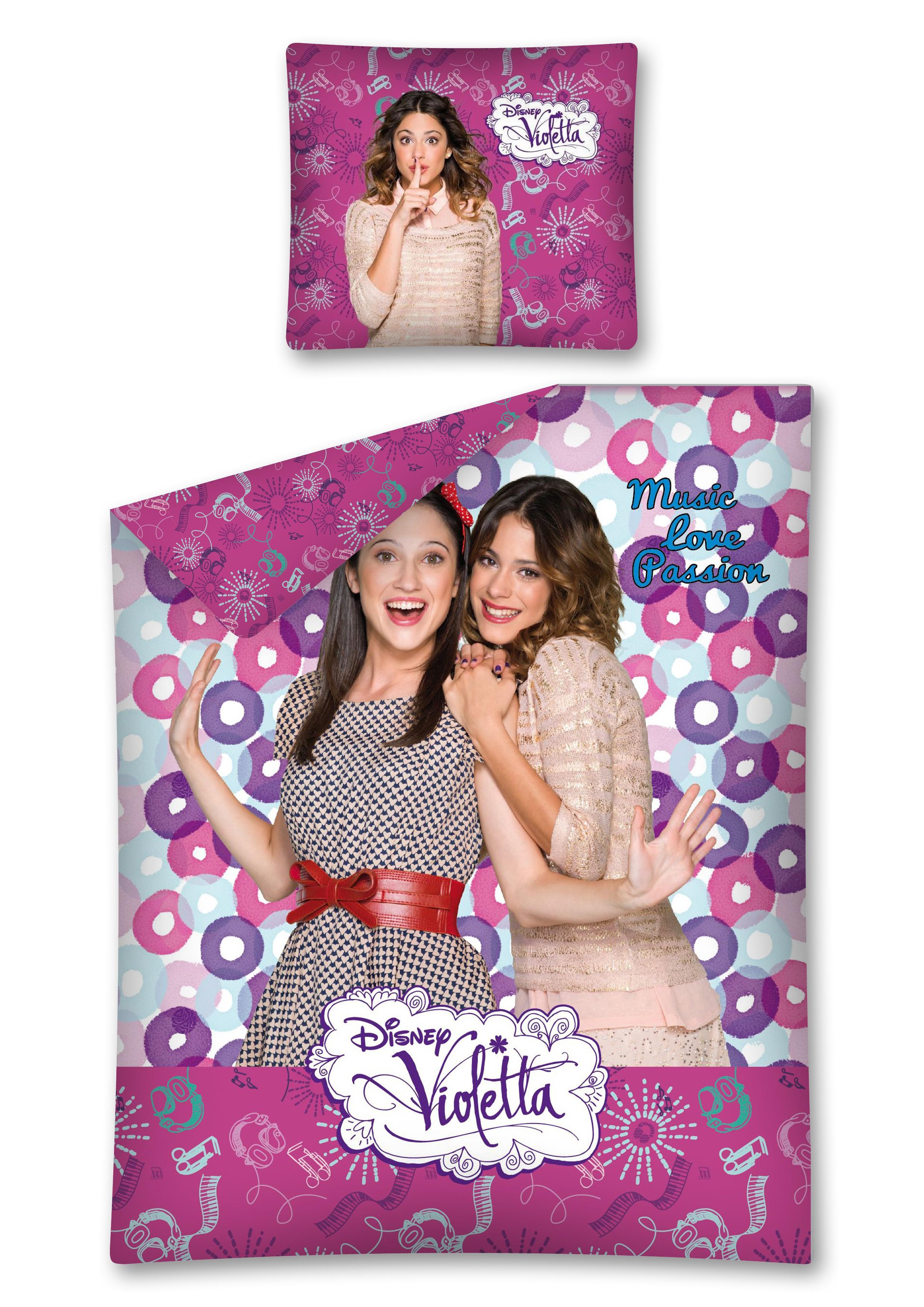 Photo du produit Parure de lit Disney Violetta 1 personne