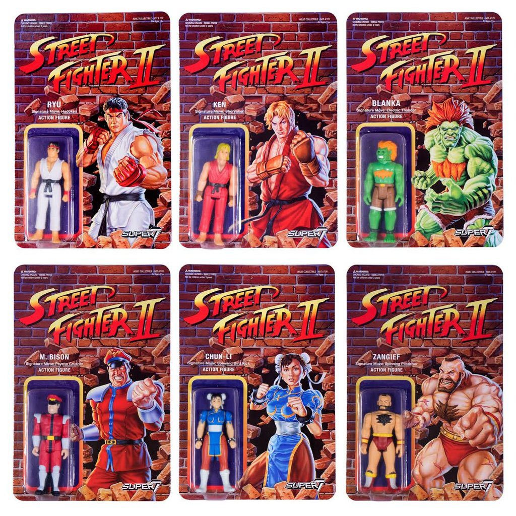 Photo du produit STREET FIGHTER II REACTION WAVE 1 6 FIGURINES 10 CM