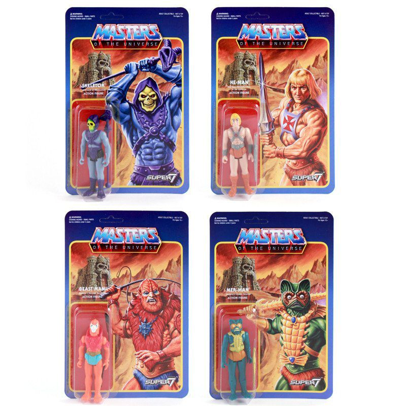 Photo du produit 4 FIGURINES MASTERS OF THE UNIVERSE REACTION WAVE 1