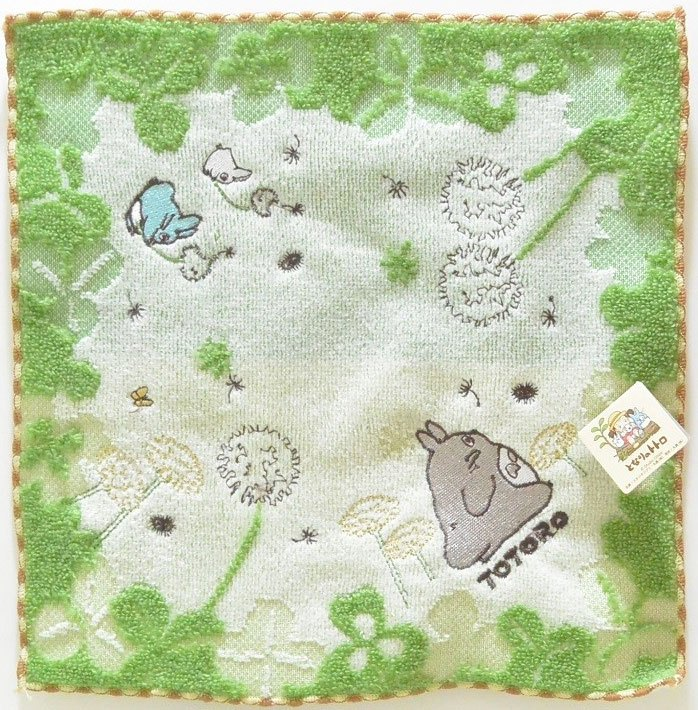 Photo du produit STUDIO GHIBLI MON VOISIN TOTORO SERVIETTE DE TOILETTE MAINS YOUNG LEAVES 25 X 25 CM