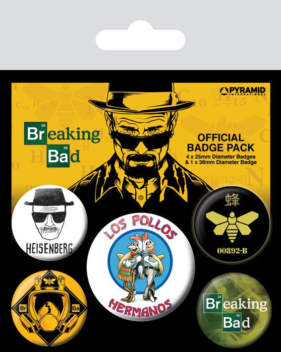 Photo du produit BREAKING BAD PACK 5 BADGES LOS POLLOS HERMANOS