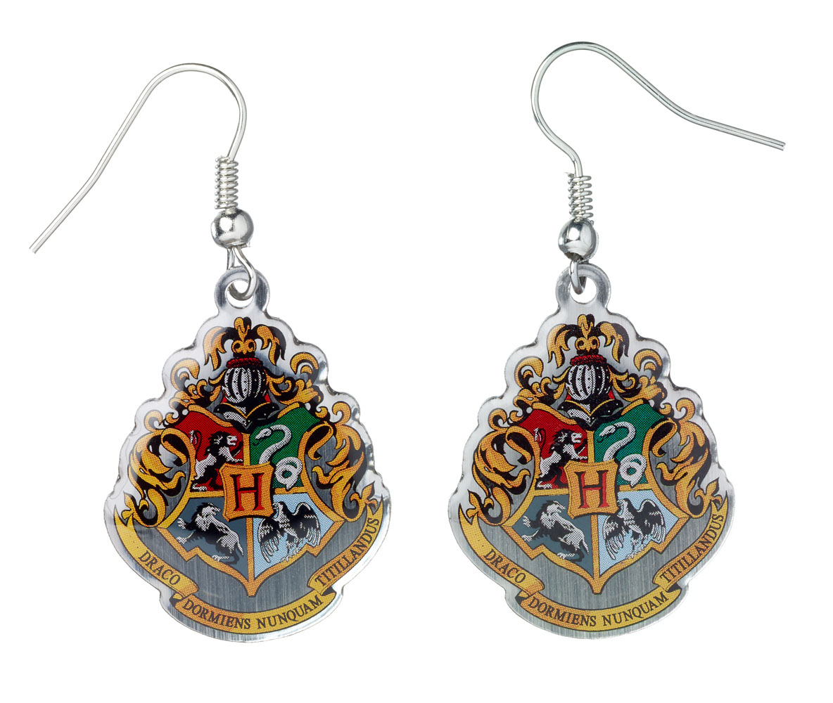 Photo du produit BOUCLES D'OREILLE PLAQUE ARGENT HARRY POTTER HOGWARTS CREST