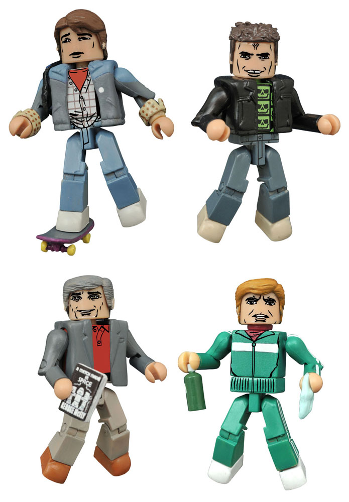 Photo du produit RETOUR VERS LE FUTUR PACK 4 FIGURINES MINIMATES 30TH ANNIVERSARY 1985 BOX SET