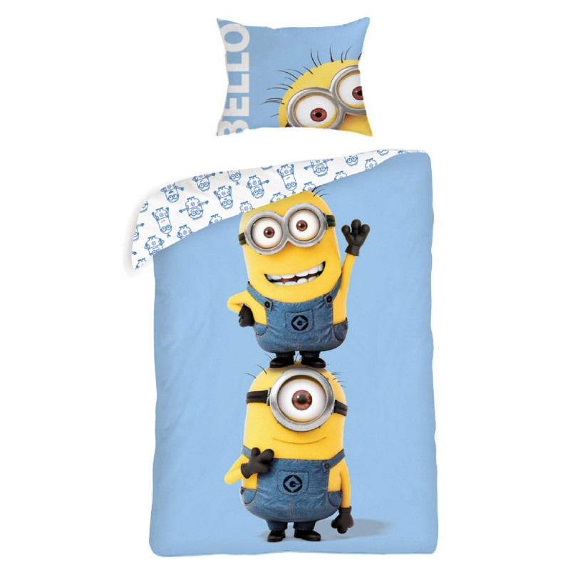 parure de lit minions. Black Bedroom Furniture Sets. Home Design Ideas