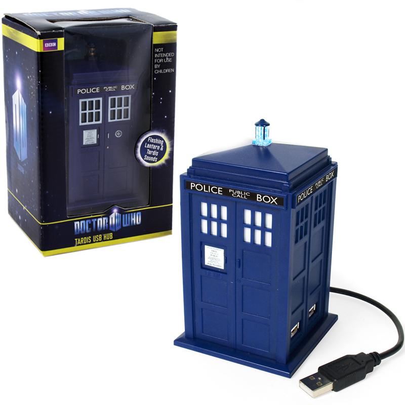 Doctor who tardis hub 16cm 4 ports usb for Decoration porte tardis