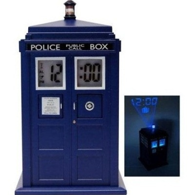 Doctor who tardis horloge projector for Decoration porte tardis