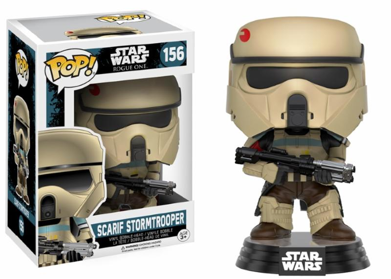 Photo du produit FIGURINE FUNKO POP STAR WARS ROGUE ONE BOBBLE HEAD SCARIF STORMTROOPER (BLUE STRIPE)