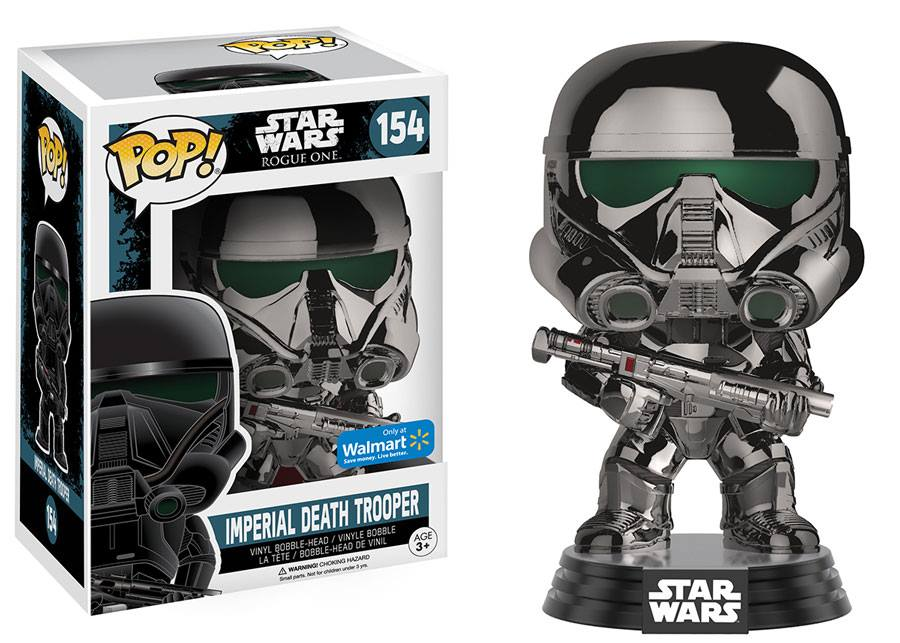 Photo du produit FIGURINE FUNKO POP STAR WARS ROGUE ONE IMPERIAL DEATH TROOPER CHROME METALLIC