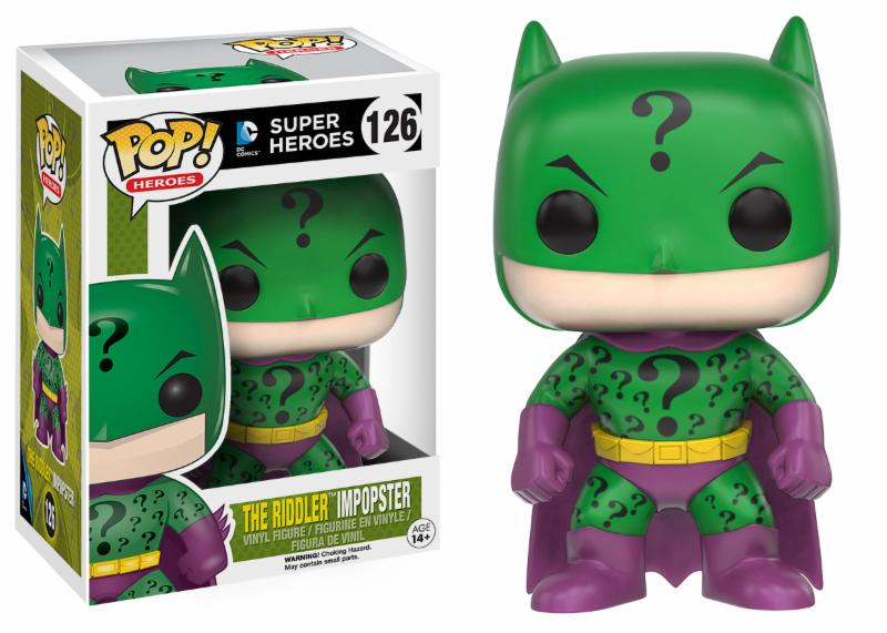 Photo du produit DC COMICS FUNKO POP BATMAN AS THE RIDDLER IMPOPSTER